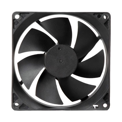 2.40 Watts 92 Mm X 92 Mm X 25 Mm DC Axial Cooling Fan, 12 Vdc