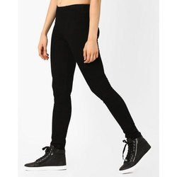 Black Regular Fit Ladies Cotton Pant
