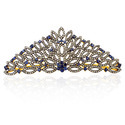 Gemco Designs Sterling Silver Gemstone Diamond Tiara