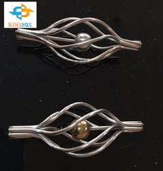 Polished Silver SS Railing Basket Design