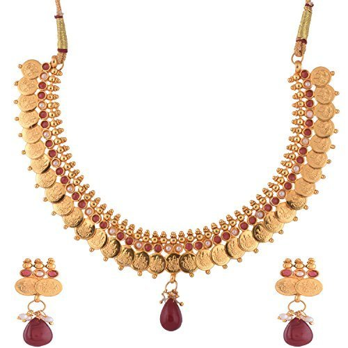 8e654a86f2 Golden MGR Gold Covering 1 Gram Gold Plated Necklace Set, Rs 500 ...