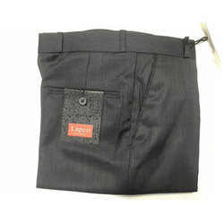 Men Cotton Plain Black Pant, Size: 28-34