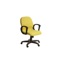 Synthetic Leather & Metal Yellow Visitor Chair-ifc067