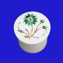 Marble Inlay Jewelry Pill Box