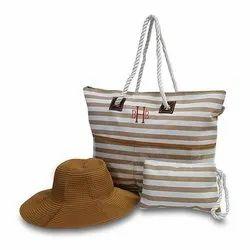 Striped Pattern Ladies Handbag