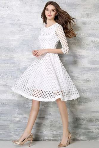 7059f367b52 Lace Dresses Wigglee New Designer White Western Dress