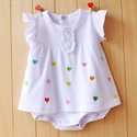 Daisy Cotton Baby Vest Set