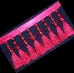 Pink Beaded Fringe