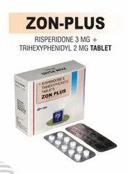 Risperidone 3 Mg & Trihexyphenidyl 2 Mg Tablet
