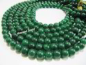 AAA-Quality Dyed Emerald Round Plain Smooth Beads