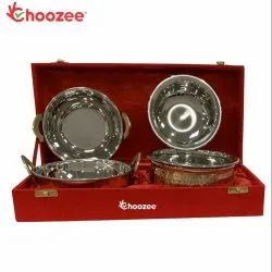 Choozee - Copper SS Handi and Kadhai Set of 4 Pcs