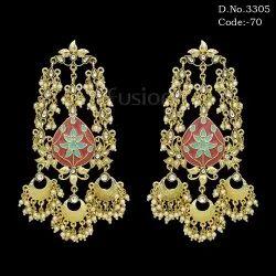 Handmade Meenakari Bridal Chandbali Earring