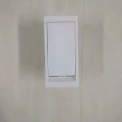 6 Amp White Flat Electric Switch, 240 V, ON/OFF