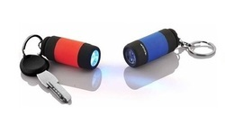 Red And Blue Standard Torch With Keychain