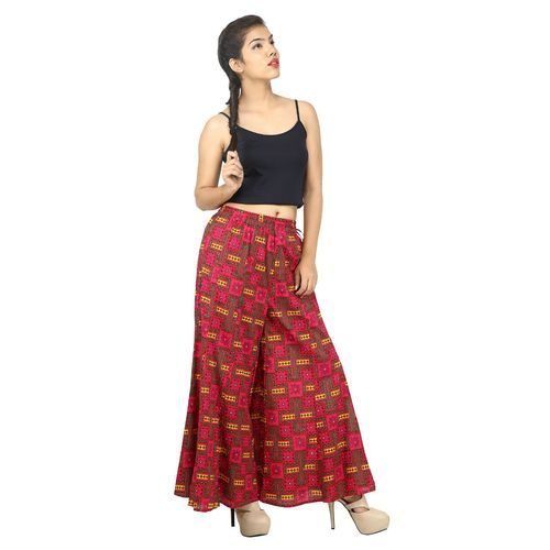daee5c30a138cc Ladies Cotton Printed Palazzo Pant, Size: S-XXL, Rs 350 /piece | ID ...