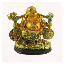 Feng Shui Laughing Buddha with Wealth Balance