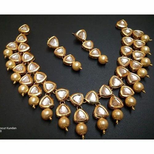 650530450f Designer Jewelleries - Kundan Necklace Set Wholesale Supplier from New Delhi