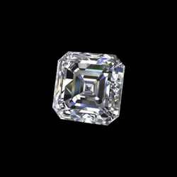 Asscher Cut White Colorless Moissanite Stone