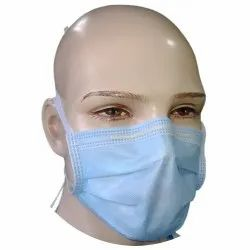 Non Woven Disposable 4 Ply Tie On Blue Surgical Mask