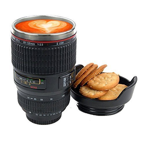 Coffee Camera Mug Biscuit Holder Lens With oxdCreBW