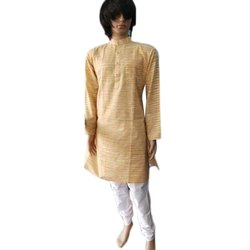 Plain Casual Wear Men Kurta Pajama, Machine wash