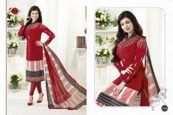 Designer Crepe Silky Salwar Suit Fabric