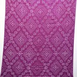 Kala Sanskruti Casual Wear All-Over Magenta Color Cotton Bandhani Kurti, Size: Free