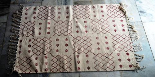 Multicolor Sanganeri Block Printed Cotton Durries & Rugs
