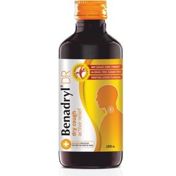 Plastic Benadryl Dry Cough Syrup