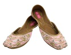 5d4721f3b262a Baby Pink Step N Style Traditional Handmade Women Shoes Leather ...