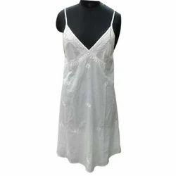 White Cotton Cambric Nighty