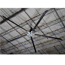 Three Black Industrial HVLS Fans