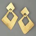 Women Fashion Fancy Stud Design Gold Filled Earring