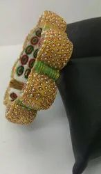Jadau Meena Bangle