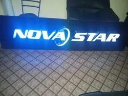 Rectangle Acrylic LED Glow Sign Board, For Advertisement