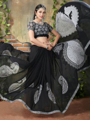 1aa471329f Georgette Sarees - Saugat-5 Catalogue Sarees Wholesale Sellers from Surat