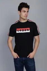 Space Black Shoulder Stripe T-Shirt