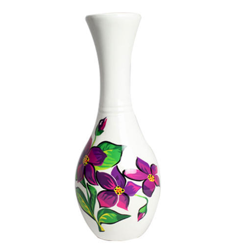 225 & Hand Painted Flower Vase