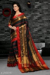 Riska Cotton Designer Saree