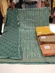 Design N..2002  Ladies Suits(Heavy Cotton Thread Works....Also Gotta Works Lines... )