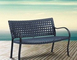 Outdoor Wicker Bench