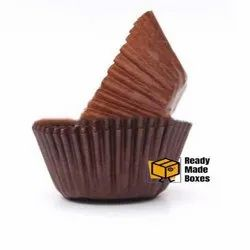 9cm Brown Colour Cup Cake Liner Box