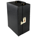 Black - 03 - Portable Leatherette Cocktail Bar Set