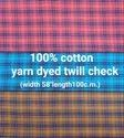 Yarn Dyed Twill Check Fabric