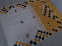 Handloom Aplic Saree, Length: 6.3 m
