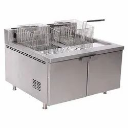 Double Deep Fat Fryer With Storage