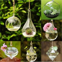 Lighting Chain Glass Hanging Terrarium Candle Holder, For Decoration