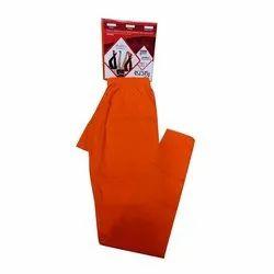 Plain Orange Designer Lycra Ladies Legging, Size: S-Xxl