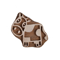 Wooden Cow Printing Blocks