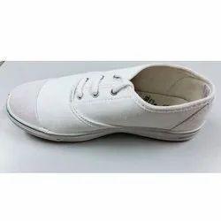 KNR PVC,Canvas White PT Shoes, Size: 6-10, Lace